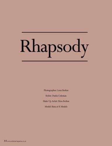 Rhapsody for Solstice Magazine